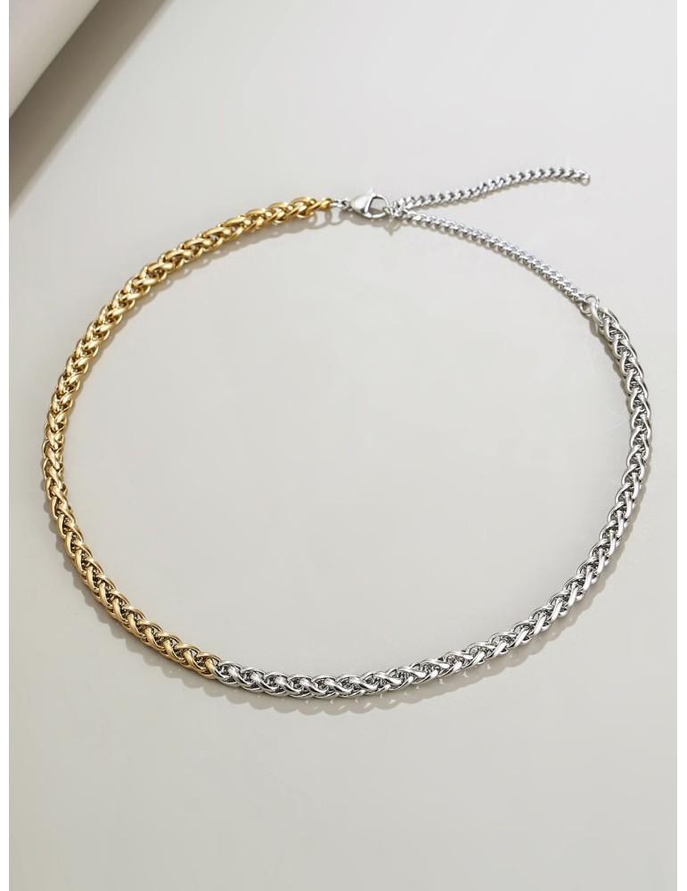 Two Tone Chain Necklace